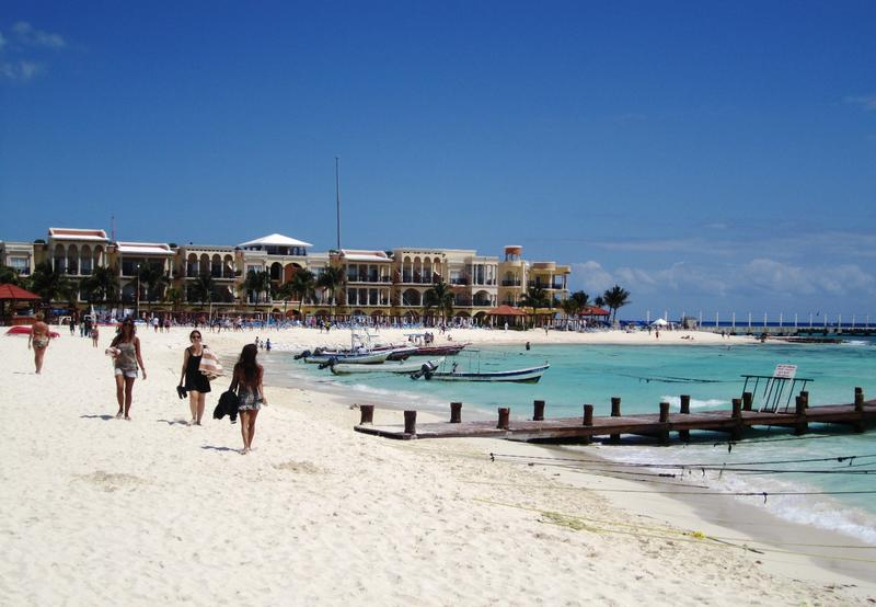 A beach in Playa del Carmen.