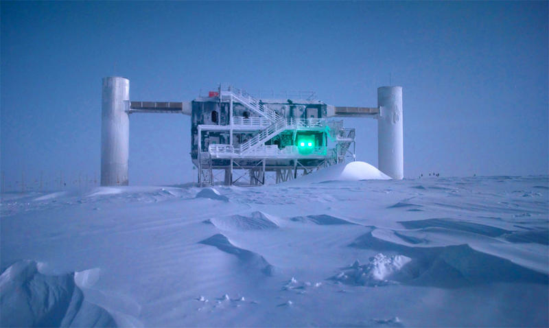 University of Wisconsin-Madison IceCube Neutrino Observatory in the South Pole.