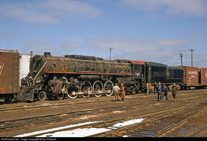 Old Smoky during its active career, shown here at Milwaukee Road's Bayview Yard between Stewart St. and St.Mary's Cement.
