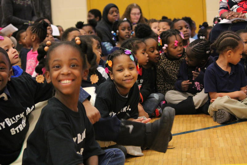 MPS students enjoy a Black History Month program.