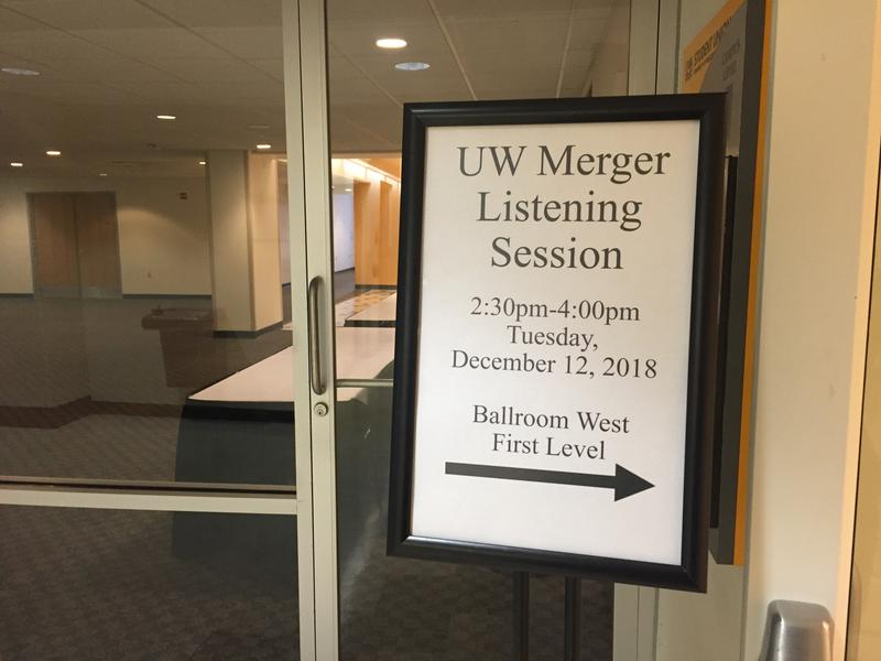 Transition leaders encouraged UW-Milwaukee faculty, staff, students and community members to attend Tuesday's listening session, the first of two that will be held to answer questions about the UW System mergers.