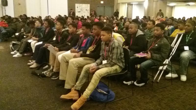 Several hundred African-American youth packed into an auditorium at UW-Milwaukee on Wednesday