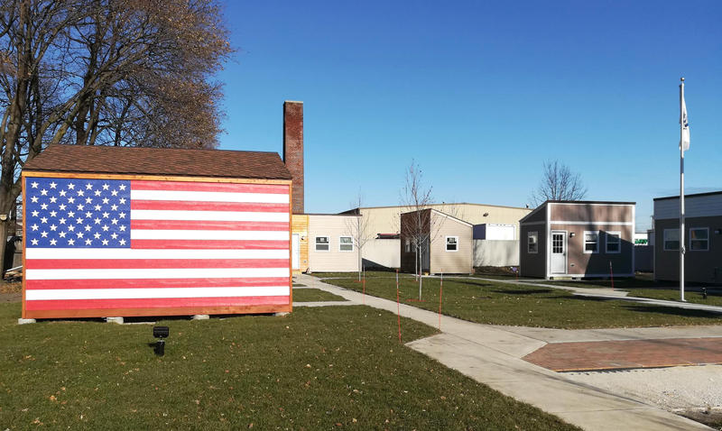 These tiny homes in Racine were built to house homeless veterans.