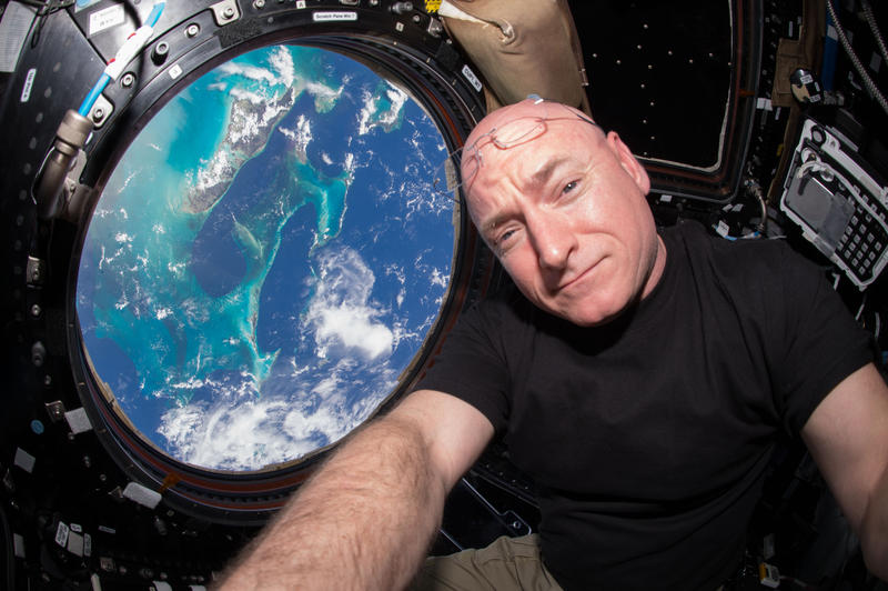 In this handout photo provided by NASA, Expedition 44 flight engineer and NASA astronaut Scott Kelly is seen inside the Cupola, a special module which provides a 360-degree viewing of the Earth and the International Space Station July 12, 2015 in space.