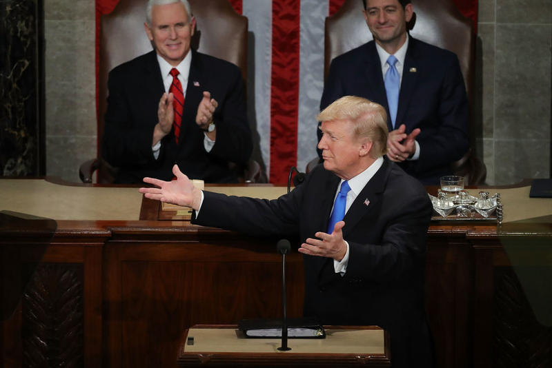 President Donald J. Trump delivers the State of the Union address January 30, 2018.