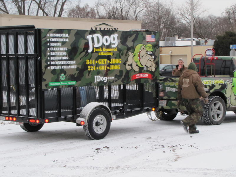 JDog crew heads out from Butler headquarters.