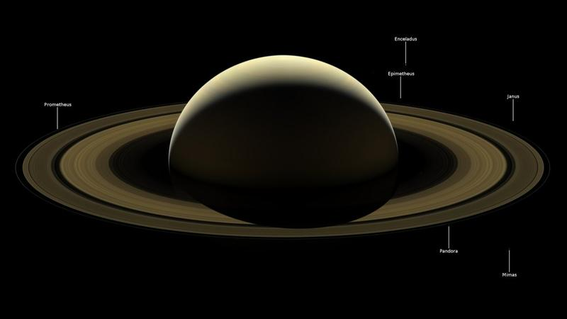 Image of Saturn from Cassini Spacecraft. The Spacecraft was Destroyed by NASA in 2017
