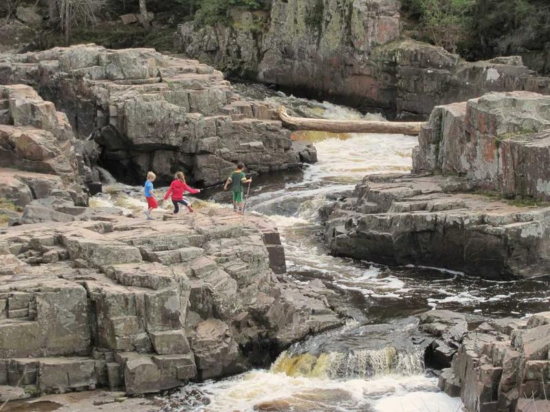 Eau Claire Dells near Wausau, Wisconsin located near a proposed mining site.