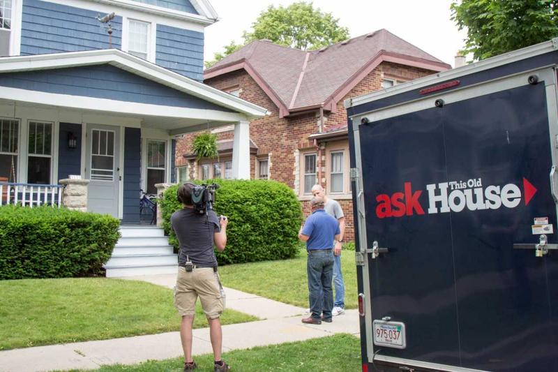Nagel and Trethewey film outside of the Bay View home featured on the episode.