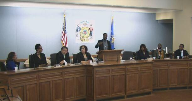 Members of the Black and Latino Caucus at the State of Black and Brown Wisconsin address.