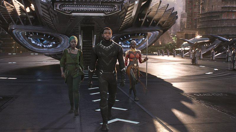 """""""Black Panther"""" stars Lupita Nyong'o, Chadwick Boseman, & Danai Gurira."""