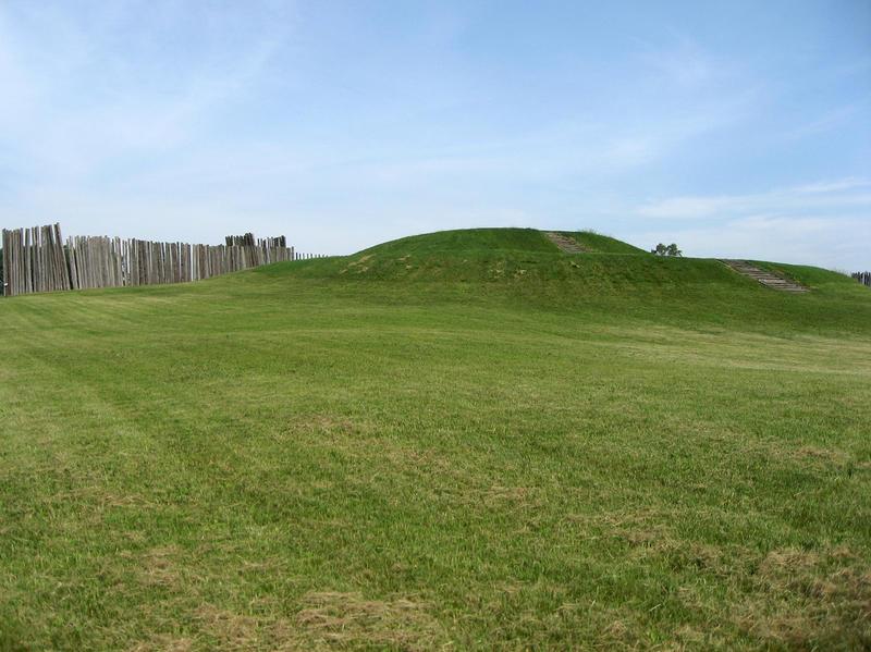 Platform Mound in Aztalan State Park in Aztalan, Wisconsin.