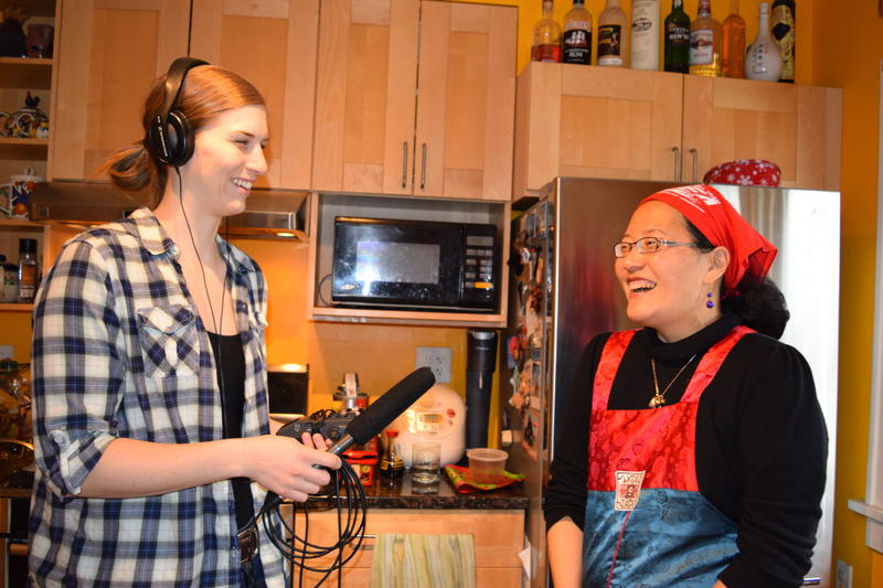 Lake Effect's Audrey Nowakowski with Saehee Chang.