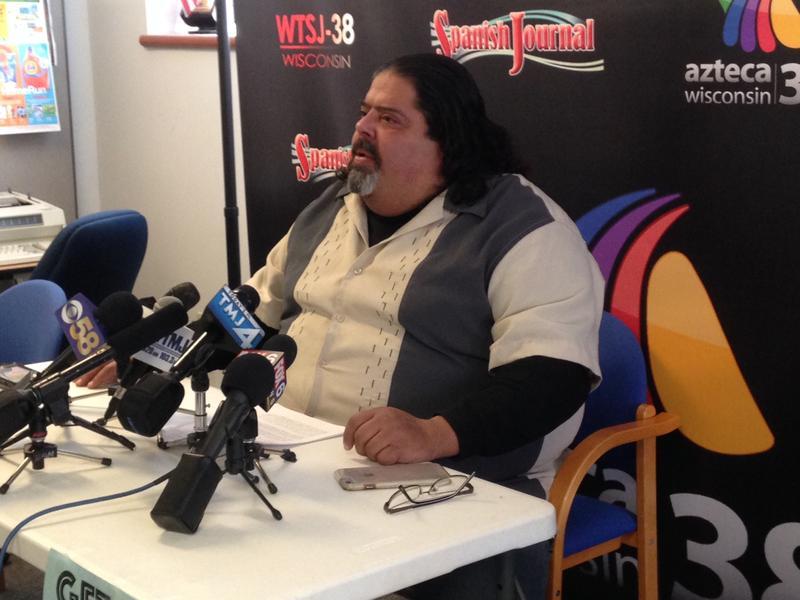 FLAC spokesperson Robert Miranda held press conference Thursday.