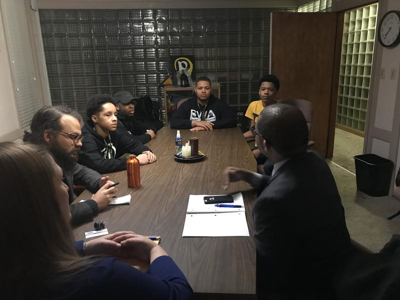 Youth from Running Rebels ask Milwaukee news leaders why there aren't more positive portrayals of black men in the news here.