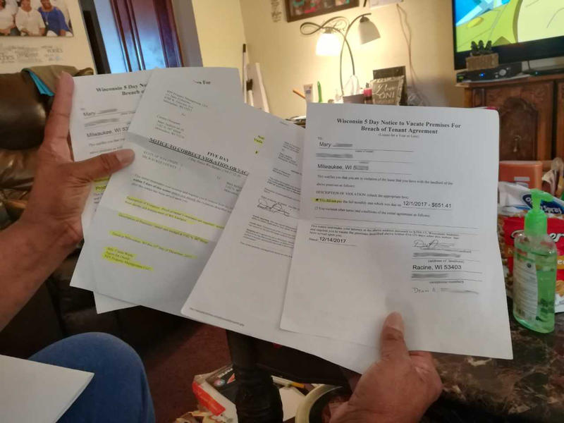 Tenant rights advocates say that Wisconsin laws unfairly favor landlords and allow them to get away with what one tenant says are fake eviction notices.