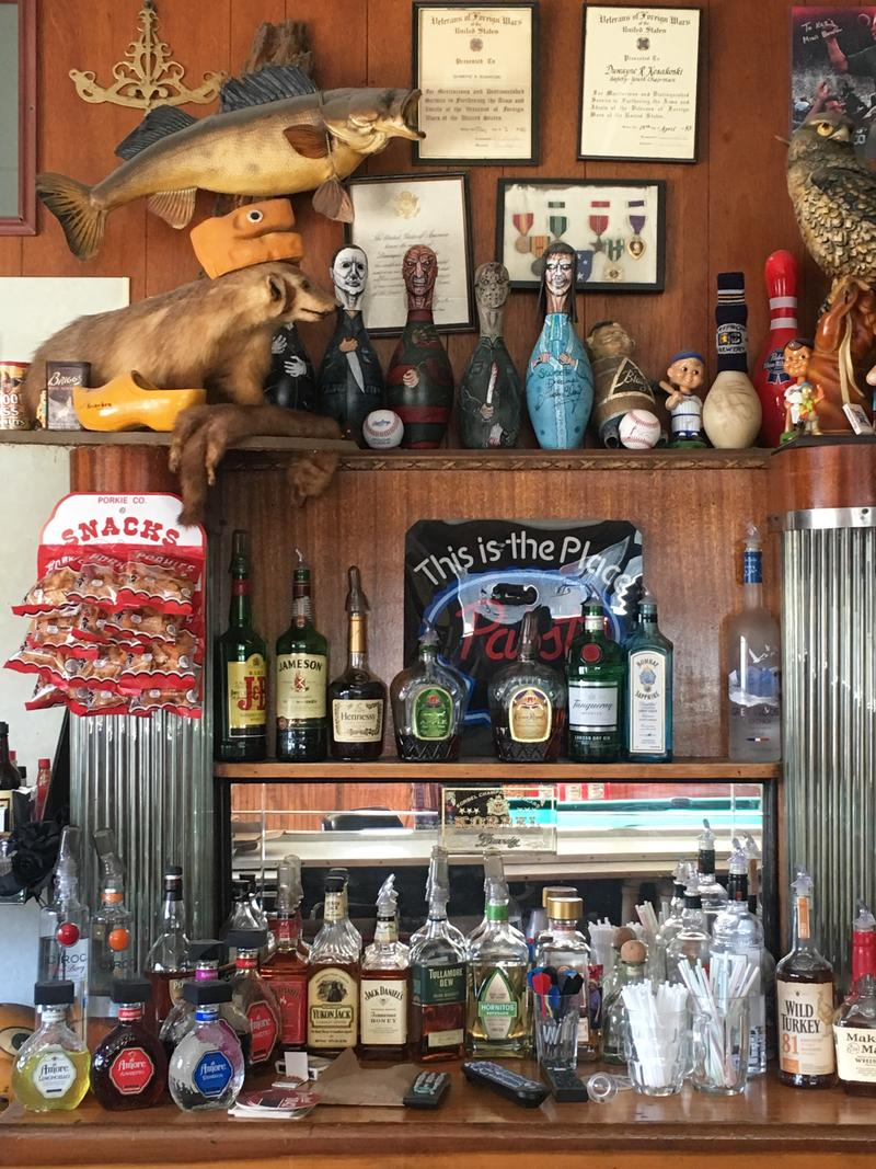 Part of the bar at Koz's Mini Bowl.