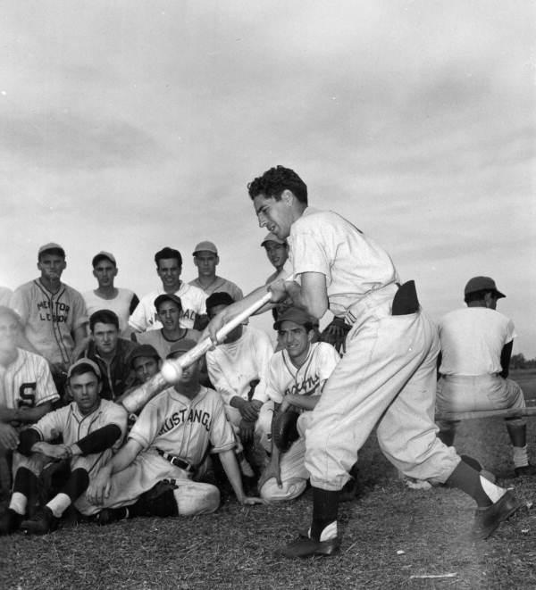 Phil Rizzuto (shown in Spring Training, 1953) was the first Italian-American ballplayer Lawrence Baldassaro interviewed.