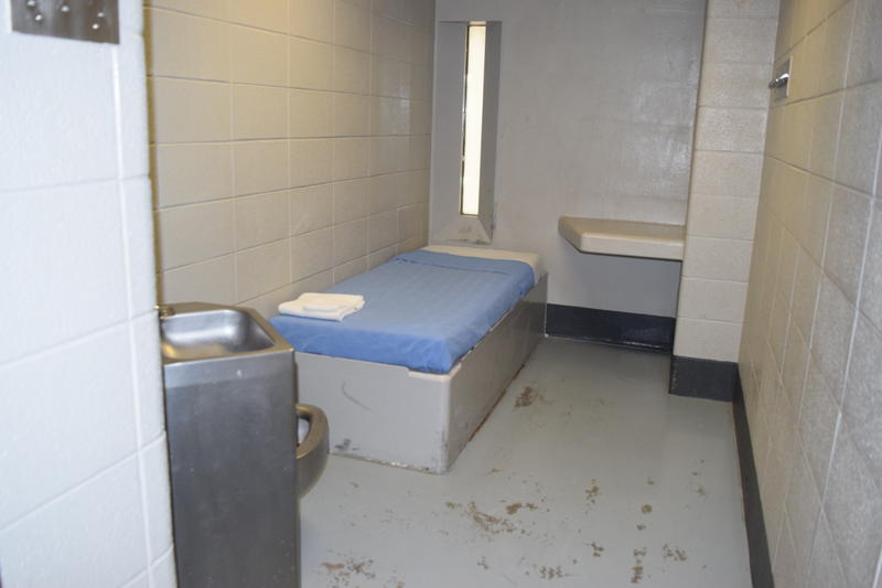 Inside a cell of the disciplinary pod.