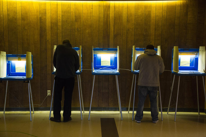 Voters cast their ballot at Cannon Pavilion on November 8, 2016 in Milwaukee, Wisconsin.