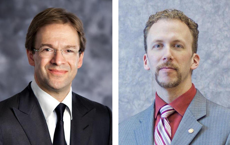 Milwaukee County Executive Chris Abele and Board Chair Theo Lipscomb.