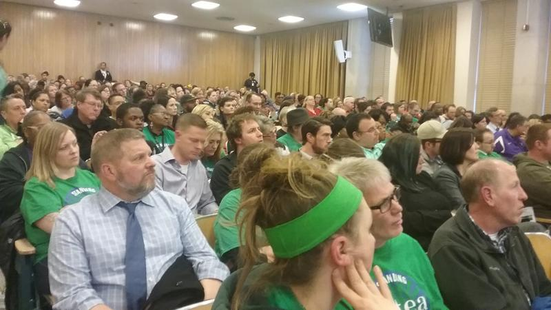 MPS employees packed the house Tuesday night as MPS laid out proposed budget cuts