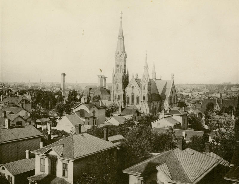 Trinity Evangelical Lutheran Church in 1885.
