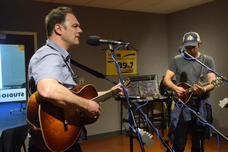 Mark Erelli (L) and Jake Armerding in the WUWM performance studio.