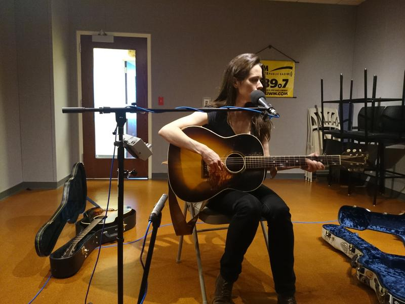Caitlin Canty in the Lake Effect performance studio.