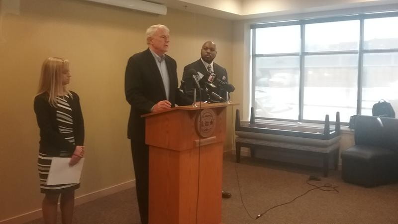 Mayor Tom Barrett announces eviction prevention grant