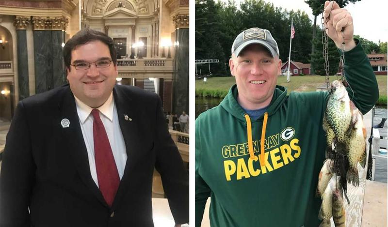 State Rep. Andre Jacque (left) will take on Caleb Frostman in the special election for state Senate next month