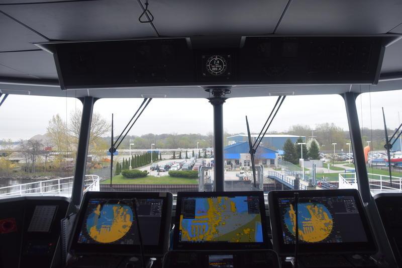 Pilots navigate through narrow passages in Muskegon.