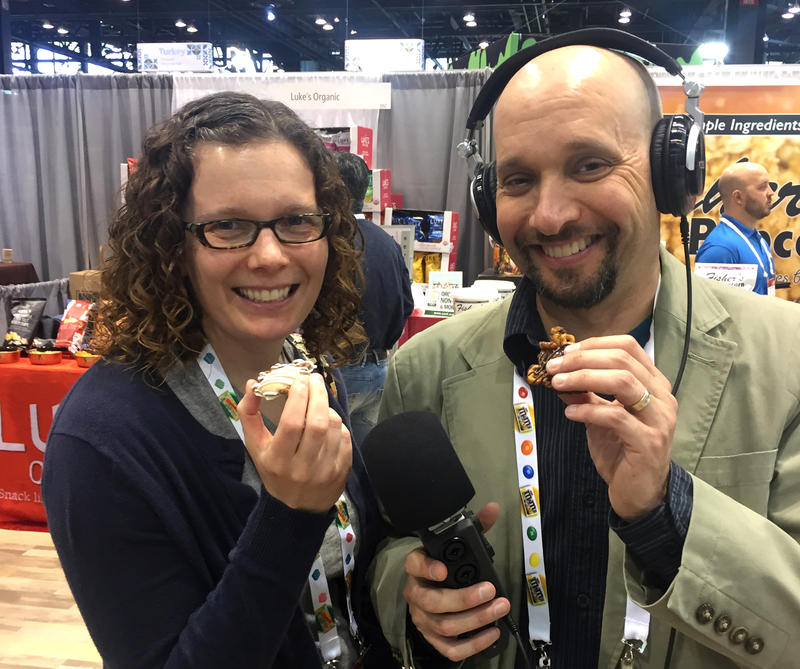 Michelle and Mitch at the Sweets and Snacks Expo.