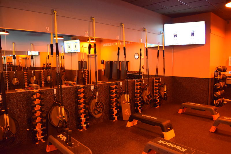 The weight floor of Orangetheory Fitness in Shorewood.