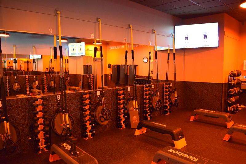 The weight floor of Orangetheory Fitness in Shorewood.