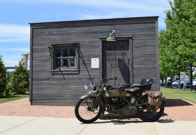 A 1918 Harley-Davidson returns to America after a century of being abroad in France.