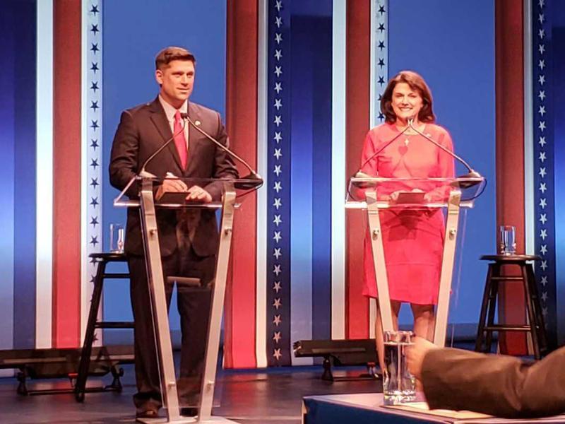 Republican U.S. Senate candidates Kevin Nicholson and Leah Vukmir.