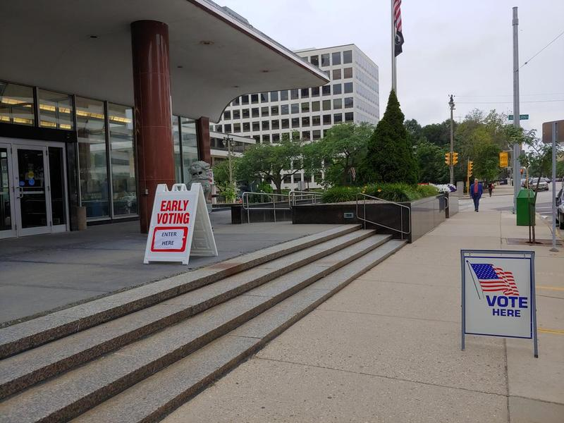 Early voting was held last week, at the Zeidler Municipal Building in Milwaukee.