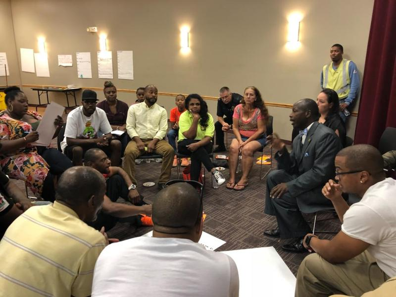 Using the blueprint for peace in response to milwaukees august community members at wednesdays blueprint for peace meeting via the milwaukee office of violence prevention malvernweather Choice Image