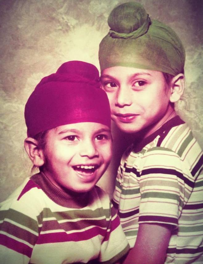 Amardeep and Pardeep Kaleka in 1981, a year before coming to America.