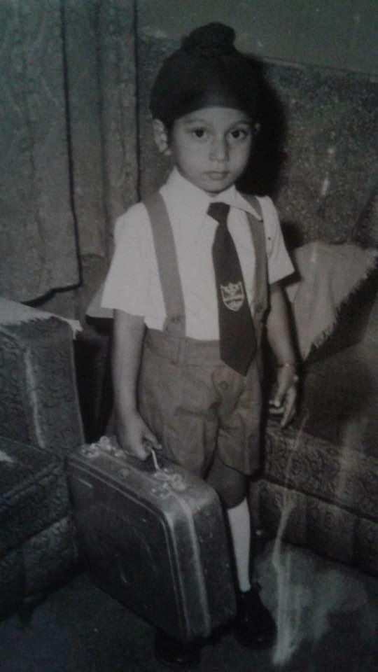 Pardeep Kaleka in 1981, a year before leaving Inida, going to school.