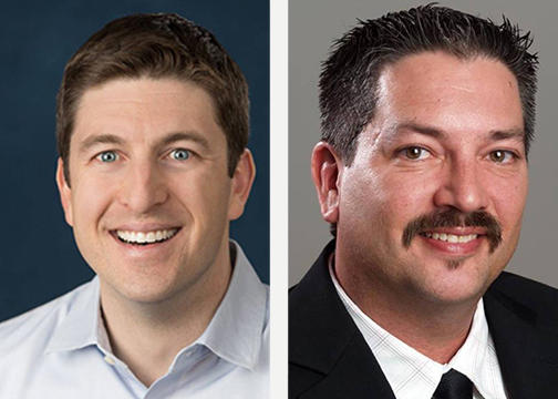 Republican Bryan Steil (left) and Democratic Randy Bryce will challenge each other for Rep. Paul Ryan's House Seat in November's general election.
