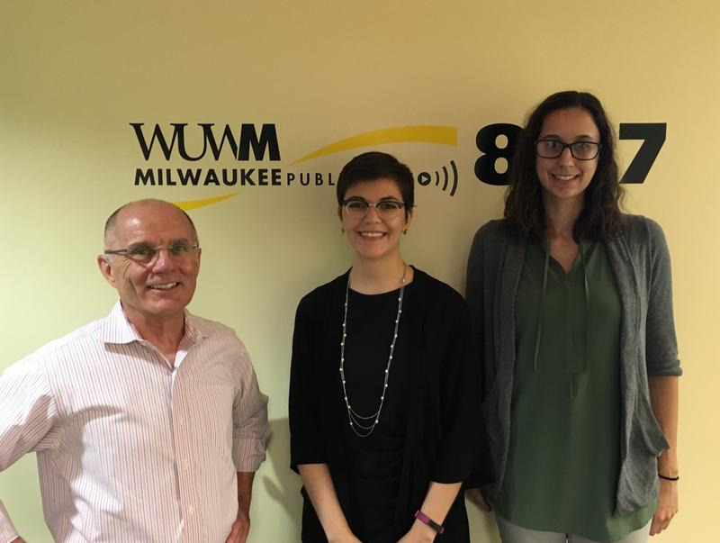 Tom Luljak with Linnea Laestadius (middle) and Melissa Seidl.