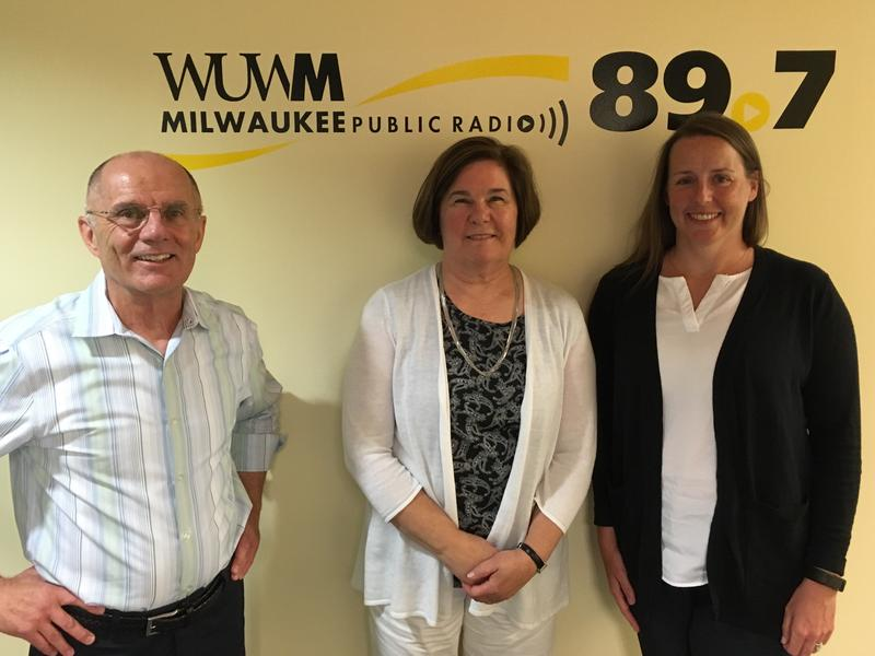 Tom Luljak with Susan Peschel (center) and Marcy Bidney.