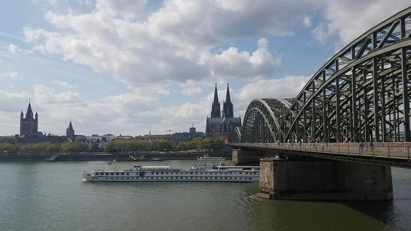 One of Bonnie North's many views in Cologne, Germany.