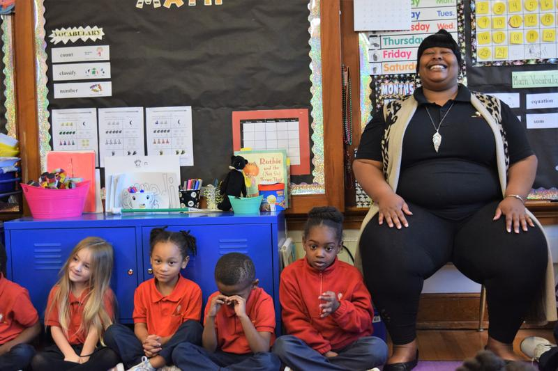 Burgundy May is an educational assistant at Milwaukee College Prep's 38th Street campus. She is enrolled in a new Concordia University program to help paraprofessionals or teacher's aides become certified teachers.