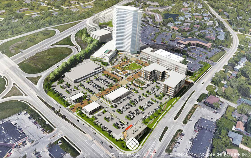 Rendering of the OneNorth project.