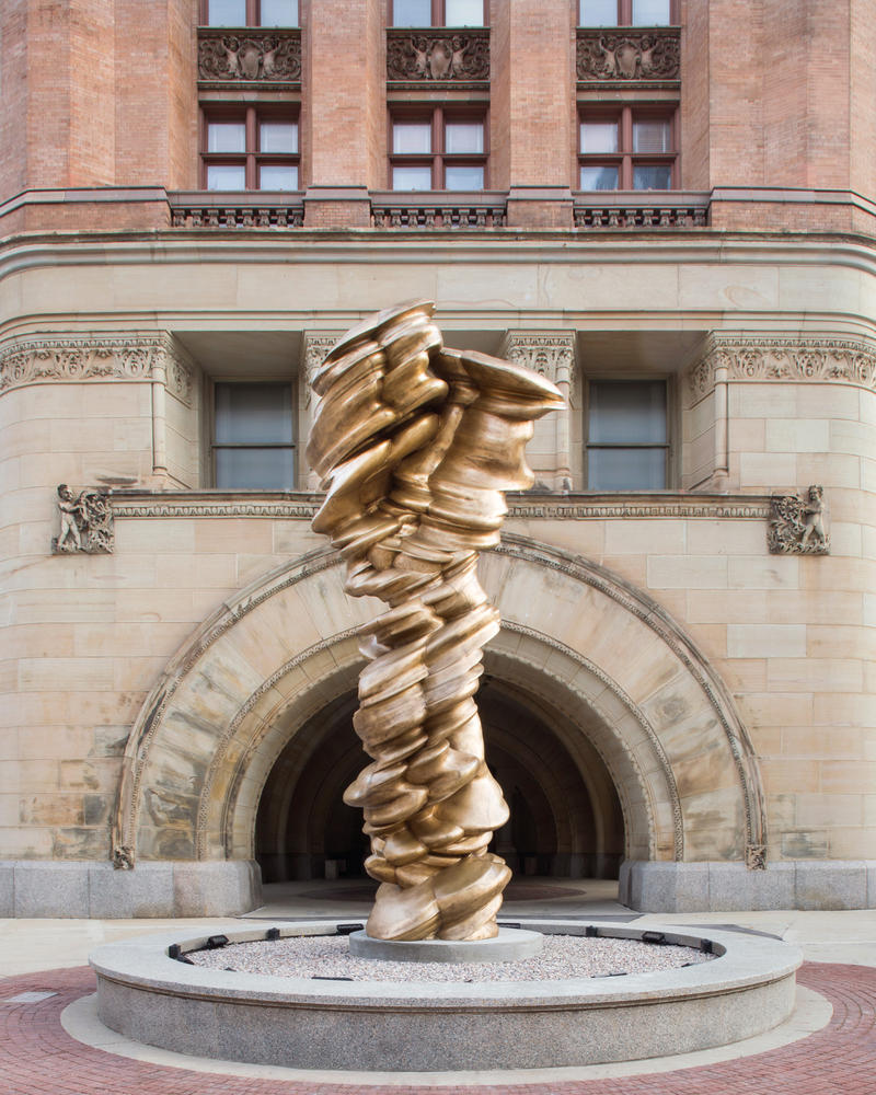 "Tony Cragg, Mixed Feelings, 2012, bronze, 216 1/2"" x 92 7/8"" x 88 3/16"" inches."