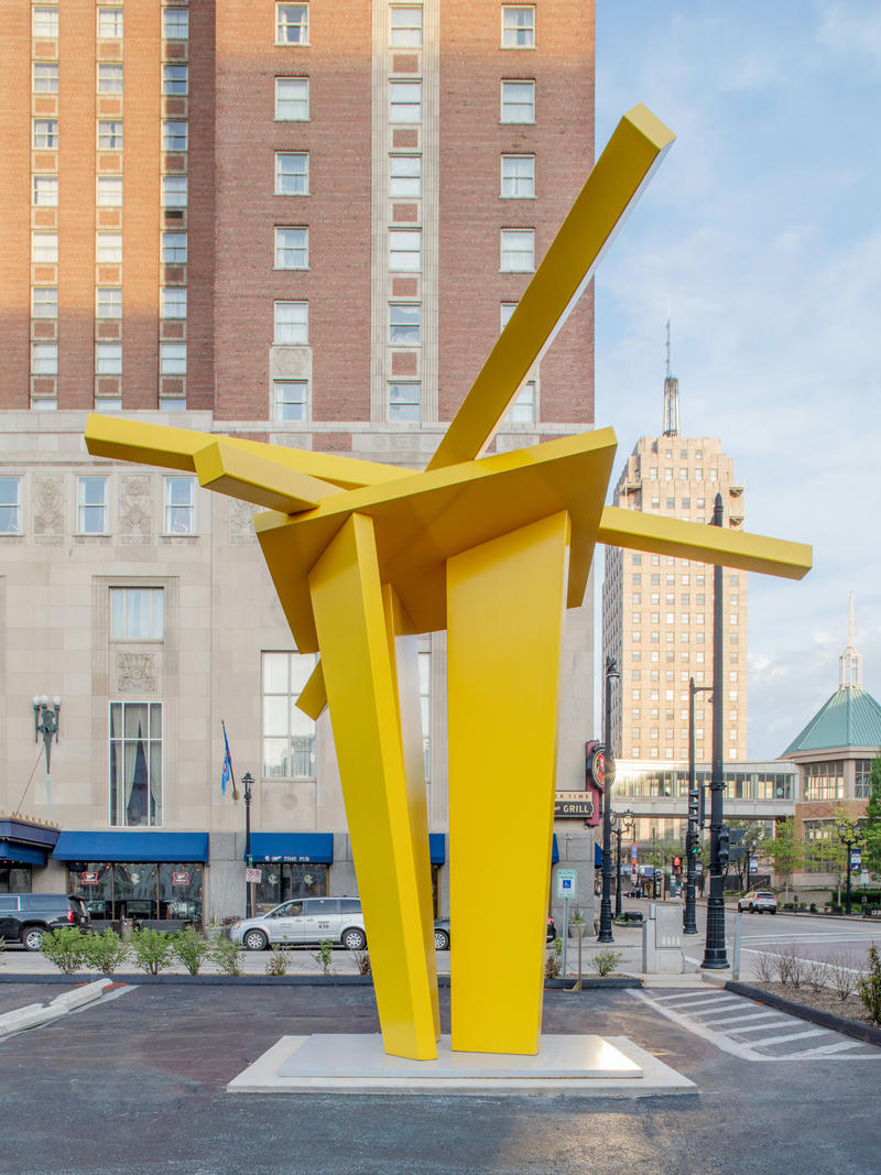 John Henry, Zach's Tower, 2007  Painted steel 312 x 168 x 144 Inches.