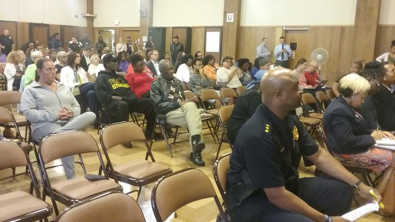 Members of the community attended a meeting on police-community relations Wednesday night